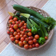 自然農畑 夏野菜の収穫 七月