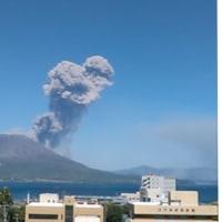 桜島が爆発噴火しました。