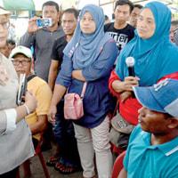 漁民の安全を懸念する  インドネシア政府