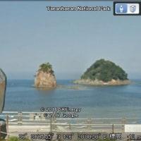 伊勢・夫婦岩と竹島と朝鮮のハラビ岩(お爺さん岩)、ハルミ岩(お婆さん岩)
