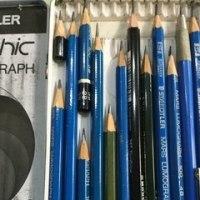 鉛筆を削って