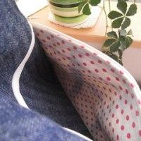 両ポケバッグもラストです♪最後はちょっと可愛い系レッド帆布 ☆彡