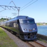 長崎本線小長井駅で787系特急「かもめ」を撮影