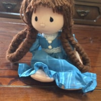 高校時代の手作り抱き人形。