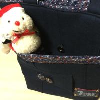 紺色のスーツからトートバッグ、完成〜〜