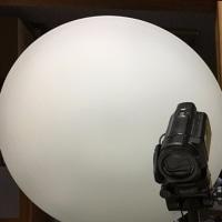 朝から工作・・・ビデオ撮影用メインライトの移設