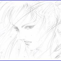 「武人」鉛筆画