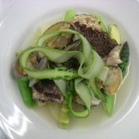 軽く炙った真鯛とアスパラガスのポ・ト・フ