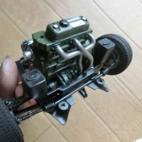 1/12 タミヤ ローバーミニ10インチドレスアップ3Dパーツ ミニマーク3仕様製作中3 エンジン/インテリア製作