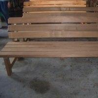 肘掛けなし背付きベンチ(防腐加工木材使用)