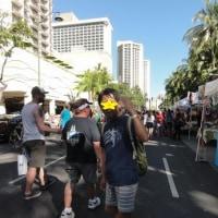 ハワイ2017 歩行者天国と夕食