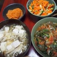 玉ねぎと空心菜のトマト煮
