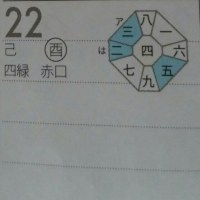 四緑木星中宮の日