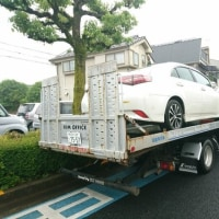 事故現場まで急行して被害車両「SAI」をお引き取り致しました!