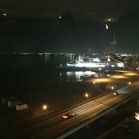 昨夜の函館港