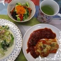 料理教室のメニューには春野菜がいっぱいです。