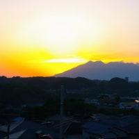 2017年04月28日、朝の桜島