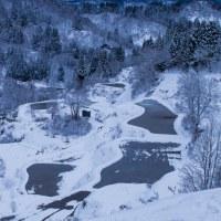 蒲生の棚田(冬景色)