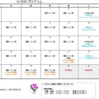 平成28年12月カレンダー