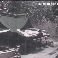 NHKのお昼のLocal Newsに箸蔵寺さんの雪が、ごっつう寒そう!!!