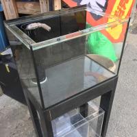 中古 プレコ 450×300×300オールガラスオーバーフロー水槽セット