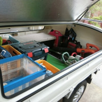 荷台の掃除&整理