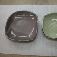 山口さんの四角皿2点(還元焼成)