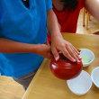 7月11日 玉穂第一保育園で、日本茶教室