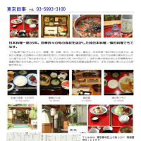 十条で有名な割烹料理店、東京田事で懐石ランチ。3650円(税・サービス込み)