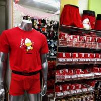 巣鴨で赤パンツ!