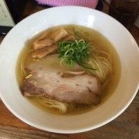 淡麗鶏塩そば@四谷荒木町「塩つけ麺 灯花」