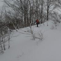 風雪の湯殿山山頂 山スキー 2017.01.01