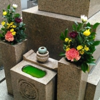 緑色の水鉢