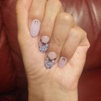 横輪ホタルと紫陽花ネイル
