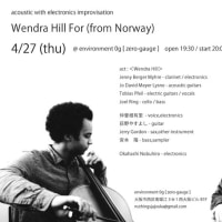 4/27 (thu) Wendra Hill For Japan Tour 2017