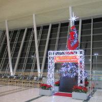 旭川空港のクリスマスツリー