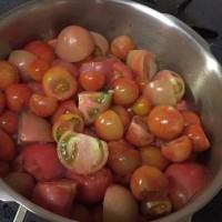 冬トマトを使って