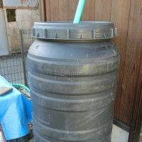 雨水タンク完成