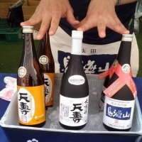 全国日本酒フェスタで、三線ゲリラライブ。。。