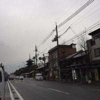 曇りがちな京都