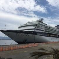 大型客船が停泊。