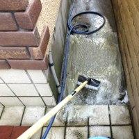 玄関タイル掃除 2