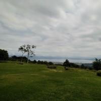 今日は猪苗代湖を眺めつつ