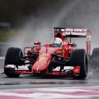 フェラーリF1、新ウエットタイヤのテストをキャンセル。ベッテルのクラッシュでマシンを修復できず