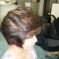イオンカール&酸性カラーとメッシュで白髪ぼかし