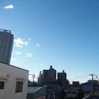 今朝(1月16日)の東京のお天気:晴れ、(1月の作品:祈願の坐像)