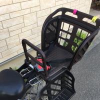 子供の保育園送迎のため、自転車に椅子を取り付けたよ