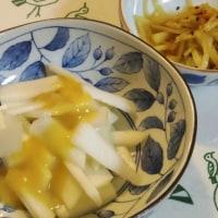 ウドの酢味噌とウドのきんぴら
