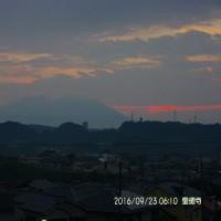 09月23日、朝の桜島