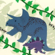Cardごのみ465~花に遊ぶ鳥&恐竜時代